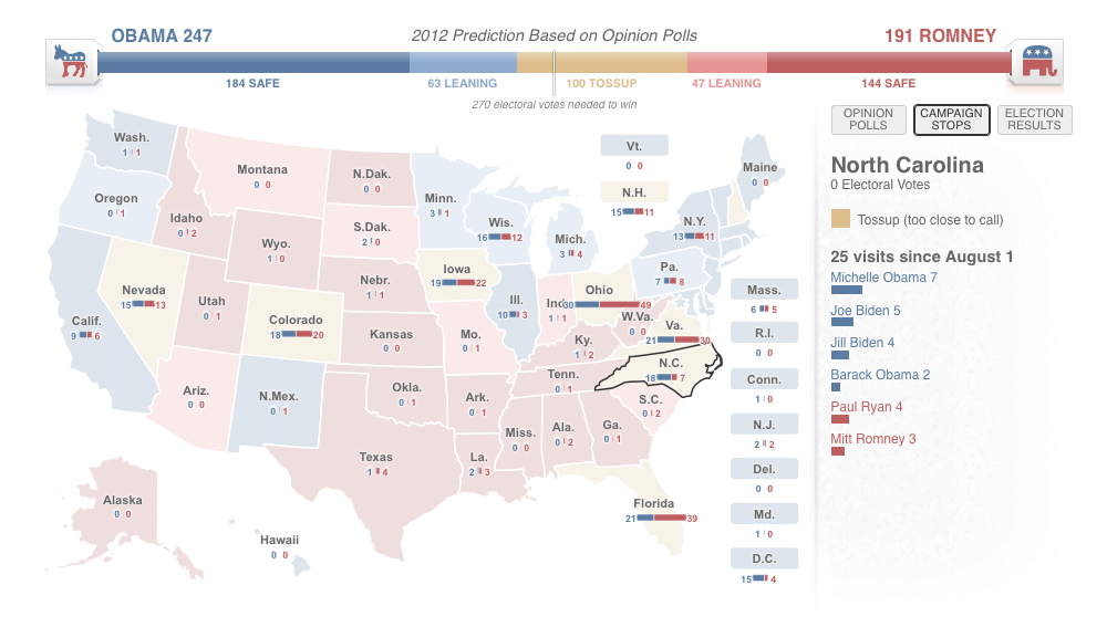 Ben Spraggon Data Visualisation Infographics Interactives - 2012-us-presidential-election-map